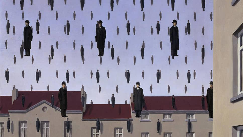 """Рене Магритт. """"Голконда"""", 1953"""