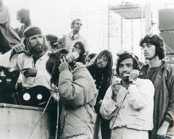 Мартин Скорсезе (в центре) на съемках «Вудстока», 1970