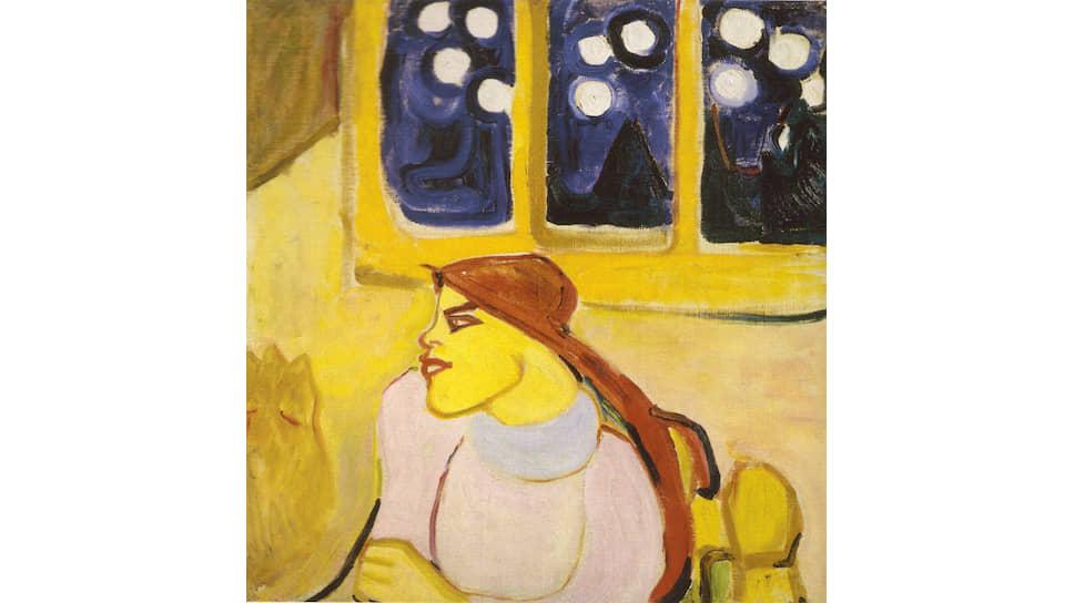 Елена Гуро. «Женщина в платке (Скандинавская царевна)», 1910