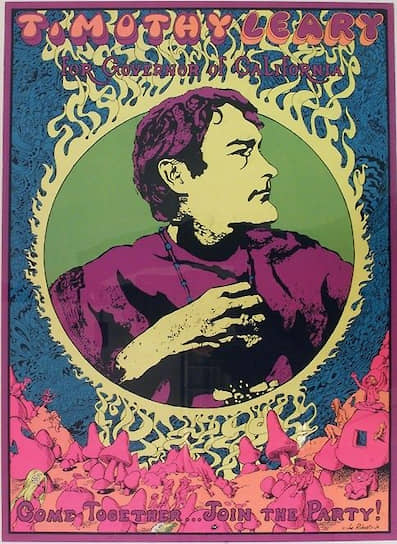 Предвыборная листовка Тимоти Лири, 1969