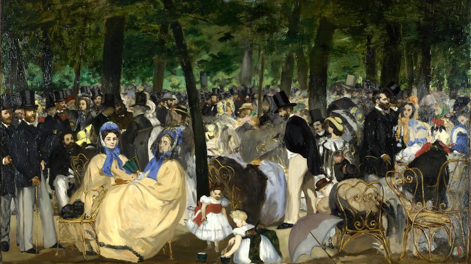 """Эдуард Мане. """"Музыка в Тюильри"""", 1862"""