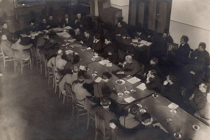 Собрание сотрудников ЦИТа, 1929