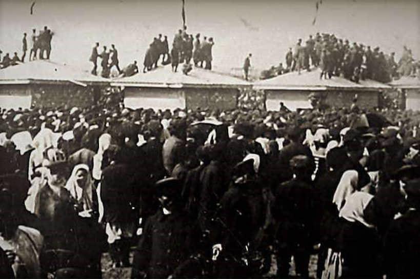 #порядок: Массовые гуляния на Ходынском поле в честь коронации императора НиколаяII, 18мая 1896. В результате давки погибло 1389человек