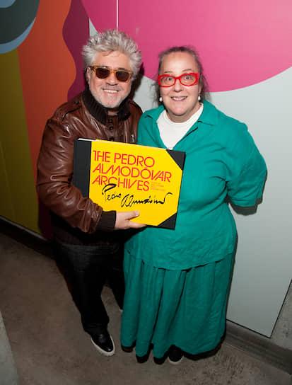 Педро Альмодовар и Ким Хастрейтер на презентации книги «Архивы Педро Альмодовара», 2011