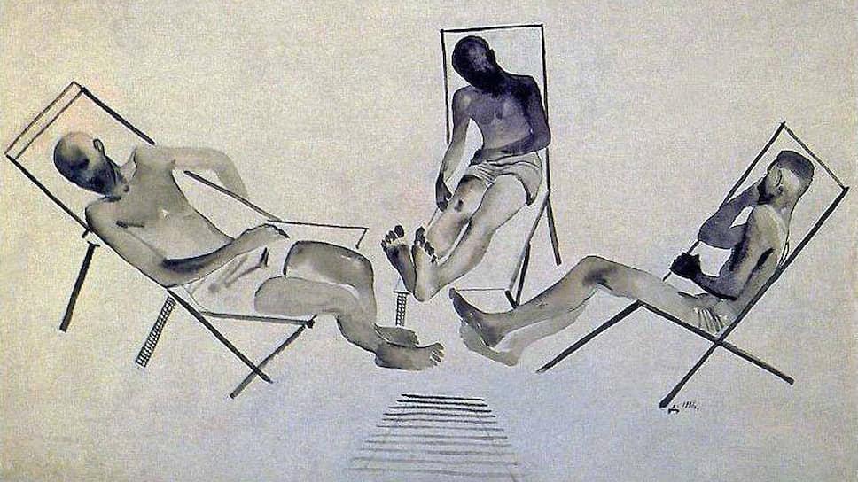 """Александр Дейнека. """"Отдыхающие"""", 1928"""
