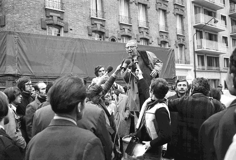 Жан-Поль Сартр на заводе Renault, 21октября 1970-го