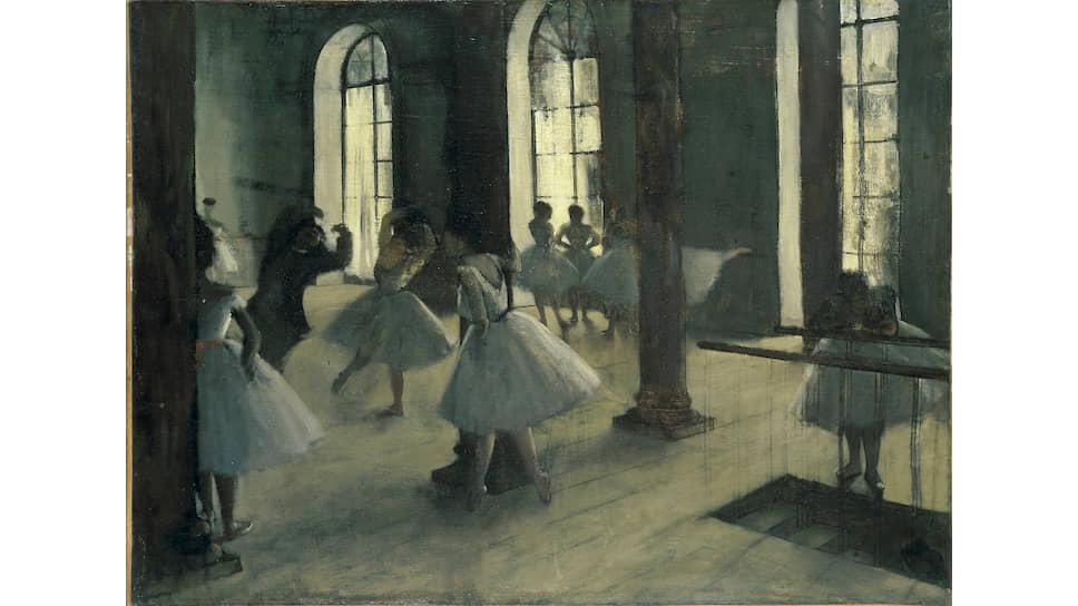 «Репетиция в Foyer deladanse», около 1870–1872