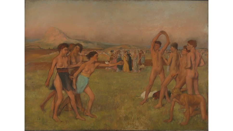 «Спартанские девушки вызывают на состязание юношей», 1860