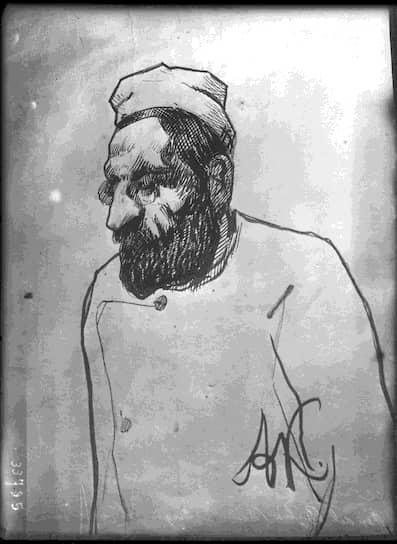 Мендель Бейлис в зале суда, октябрь 1913-го