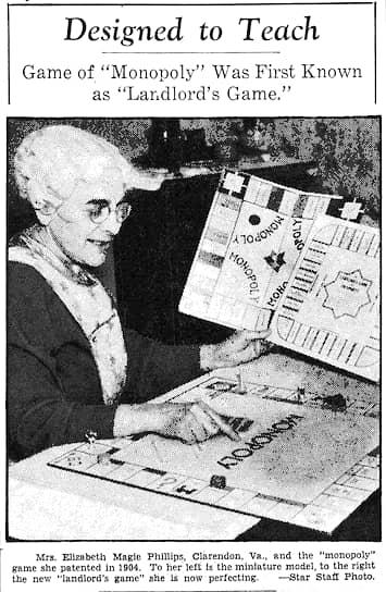 Элизабет Мэгги в газете Washington Evening Star, 1936