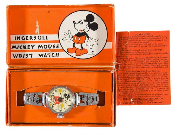 Часы с Микки Маусом фирмы Ingersoll, 1933