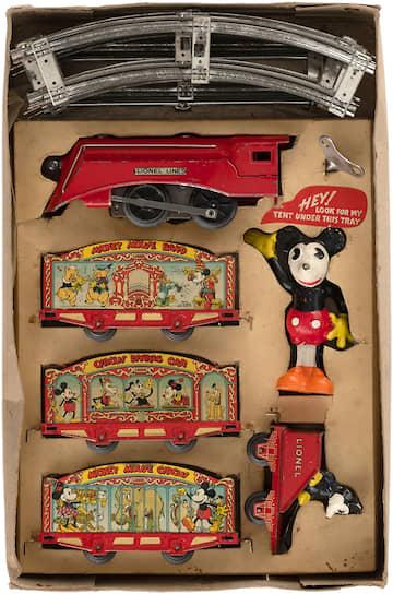 Игровой набор «Цирковой поезд Микки Мауса» компании Lionel, 1935