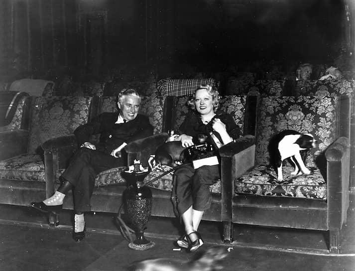 Чарли Чаплин и Мэрион Дэвис, около 1929