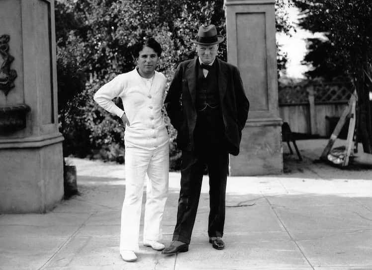 Чарли Чаплин и Уинстон Черчилль, 1931