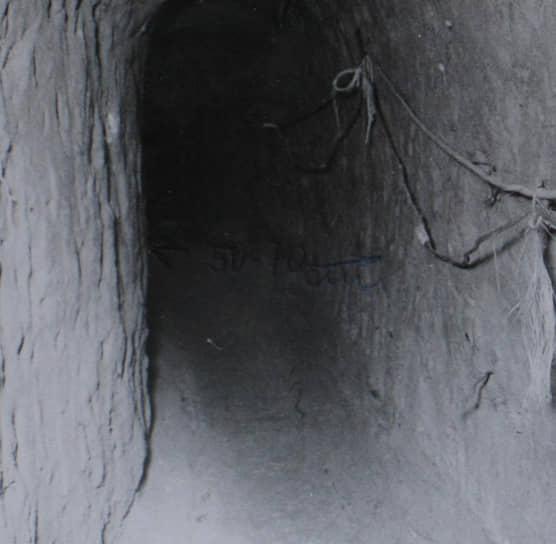 Тоннель, по которому 12человек бежали через границу, оперативная съемка МГБ ГДР, май 1961