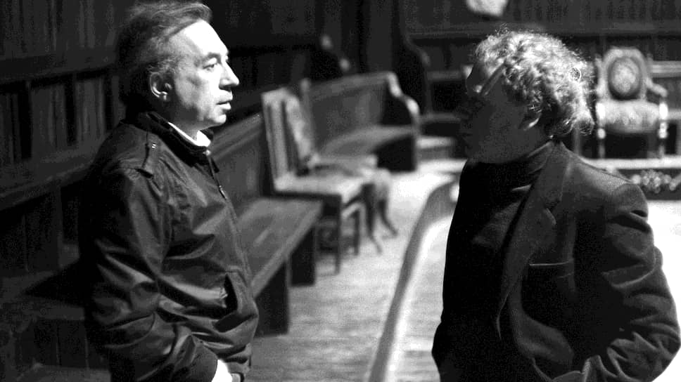 Анатолий Эфрос и Эдвард Радзинский на репетиции, середина 1970-х