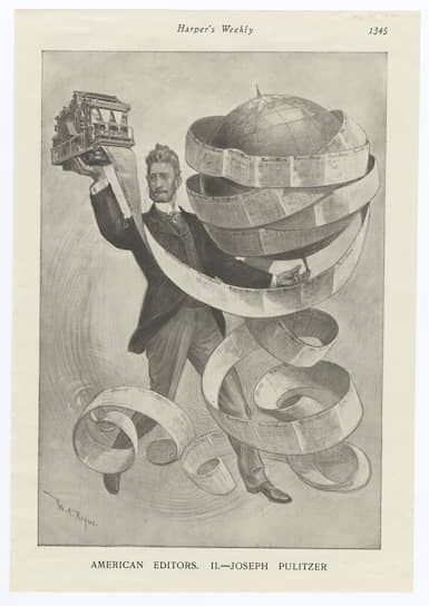 Уильям Роджерс. Шарж на Джозефа Пулитцера в Harper's Weekly, 1901