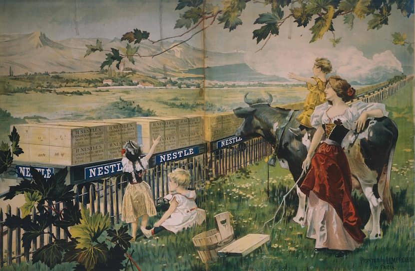 Реклама Nestle, около 1898