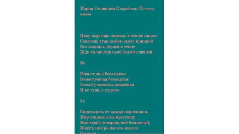 Мария Степанова «Старый мир. Починка жизни»  / Новые книги. Выбор Игоря Гулина