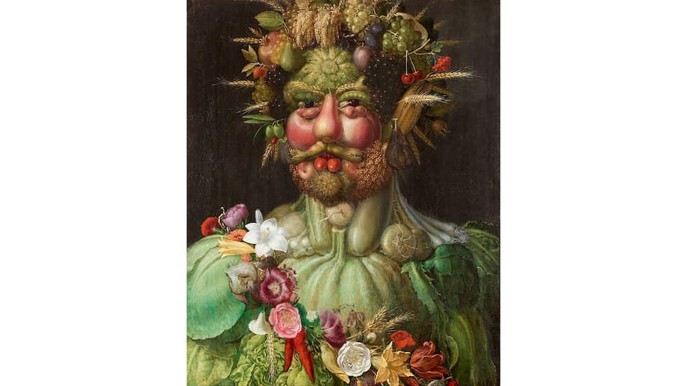 Джузеппе Арчимбольдо. «Портрет императора Рудольфа II в образе Вертумна», 1590