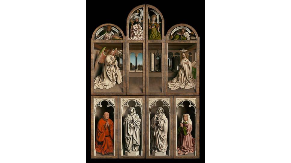 Хуберт и Ян ван Эйки. Гентский алтарь в закрытом виде, 1432