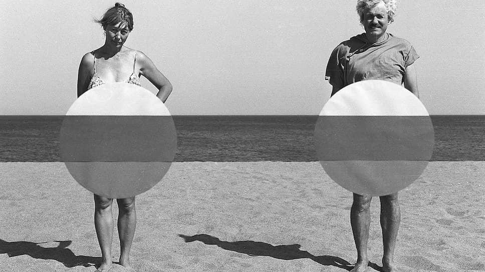 Франциско Инфанте и Нонна Горюнова на съёмках «Артефактов», 1993