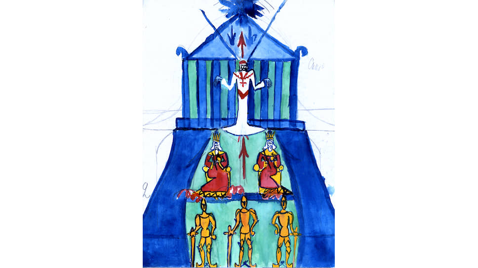 Андрей Белый. «Картина теократии (заговор пап)», начало 1900-х