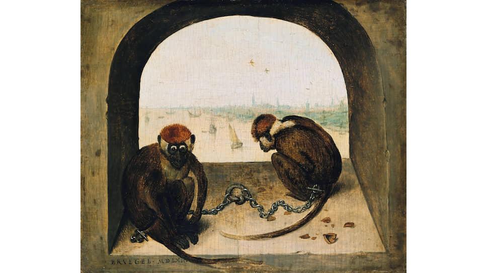 Питер Брейгель Старший. «Две обезьяны»,  1562