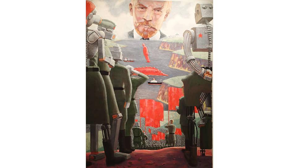Владимир Сальников. Из серии «Ленин и роботы». 2003