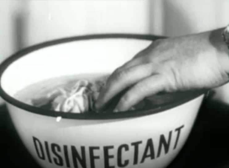 «Не распространяй микробы». Джон Криш, 1948