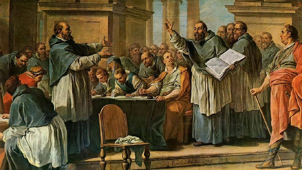 Шарль-Андре ван Лоо. «Святой Августин спорит с донатистами», XVIII век