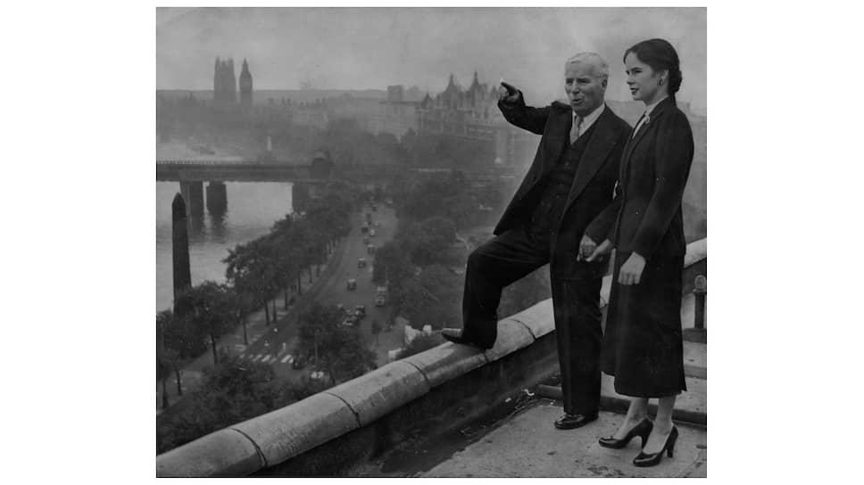 Чарли и Уна Чаплин в Лондоне, 1952