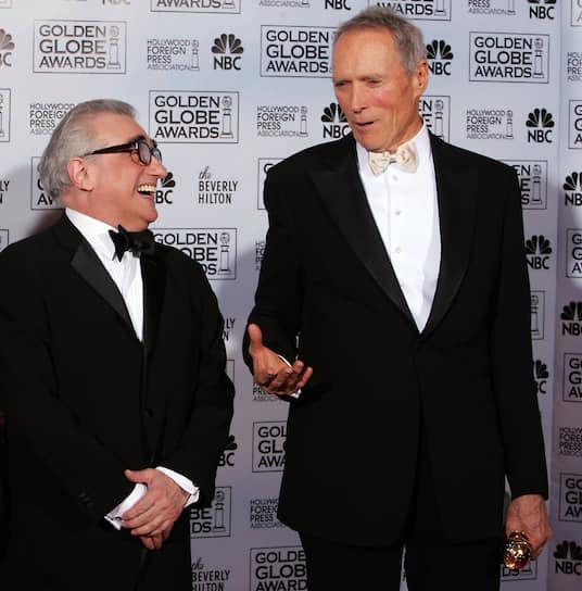 Мартин Скорсезе и Клинт Иствуд на церемонии вручения премии «Золотой глобус», 2005
