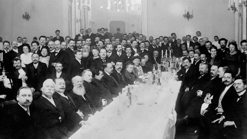 Празднование по случаю 50-летия главы издательской фирмы И.Д.Сытина. Москва, 1916