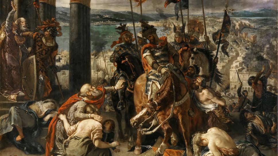 """Эжен Делакруа. """"Вступление крестоносцев в Константинополь"""", 1840"""