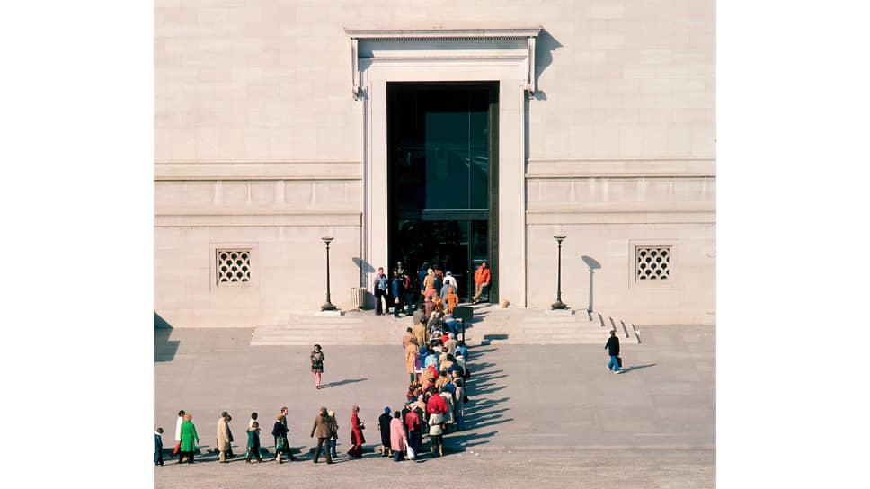 Очередь на выставку «Сокровища Тутанхамона» в Национальной галерее Вашингтона, 1976