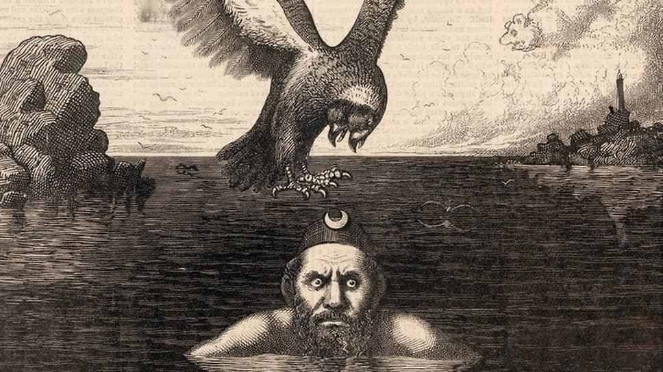 Фрэнк Беллью. Гравюра «Положение на Черном море», опубликованная в Harper's Weekly в июне 1877года