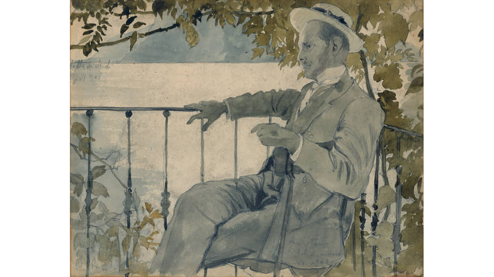 Александр Бенуа. «Портрет Мстислава Добужинского», 1908