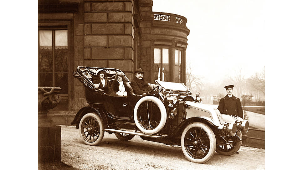 Выезд на автомобиле, начало 1900-х