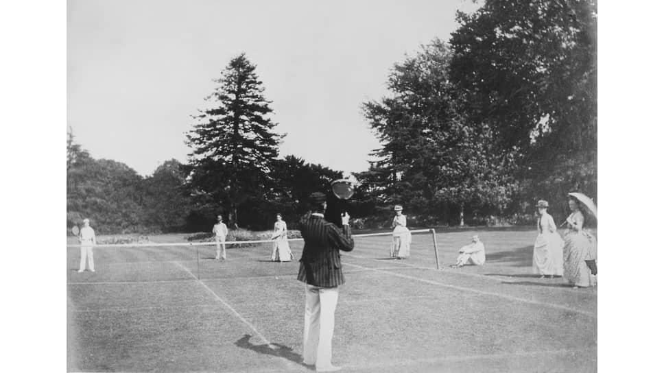 Игра в теннис, Восточный Йоркшир, 1880