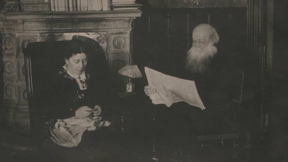 Петр Кропоткин с женой, 1918–1921