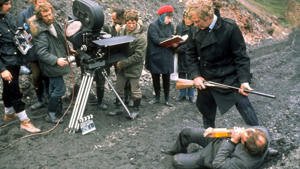 На съемках «Убрать Картера», 1970