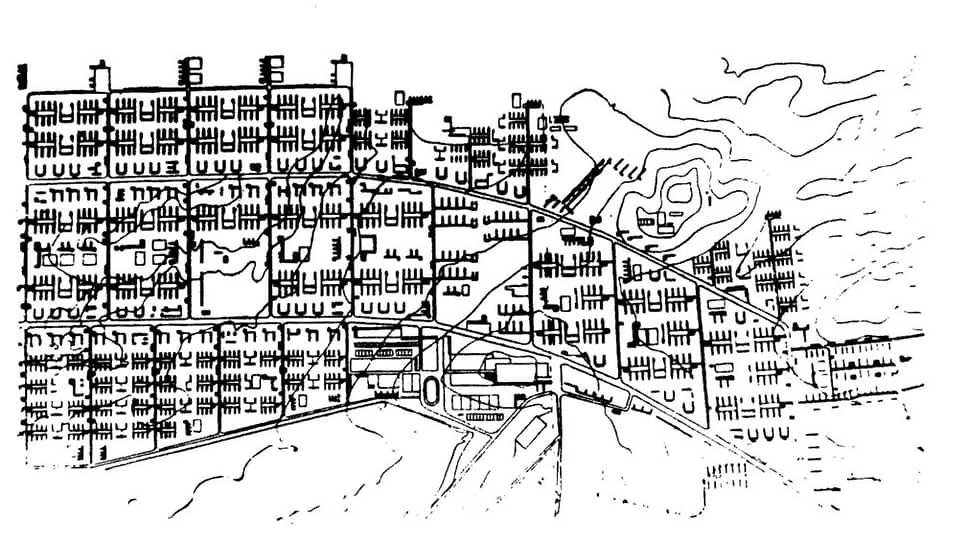 Эрнст Май. План Магнитогорска, 1933