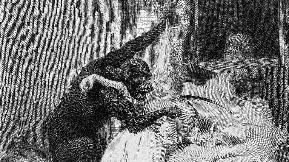 Даниэль Вьерж. Иллюстрация к рассказу «Убийство на улице Морг», 1870