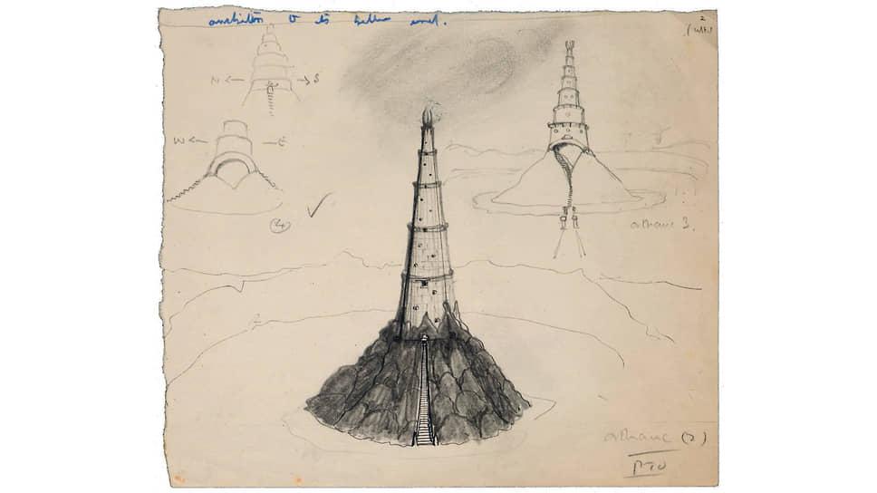 Джон Рональд Руэл Толкин. Иллюстрация к «Хоббиту, или Туда и обратно», 1937