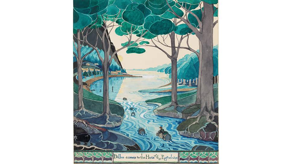Джон Рональд Руэл Толкин. Эскиз карты Средиземья, 1930-е