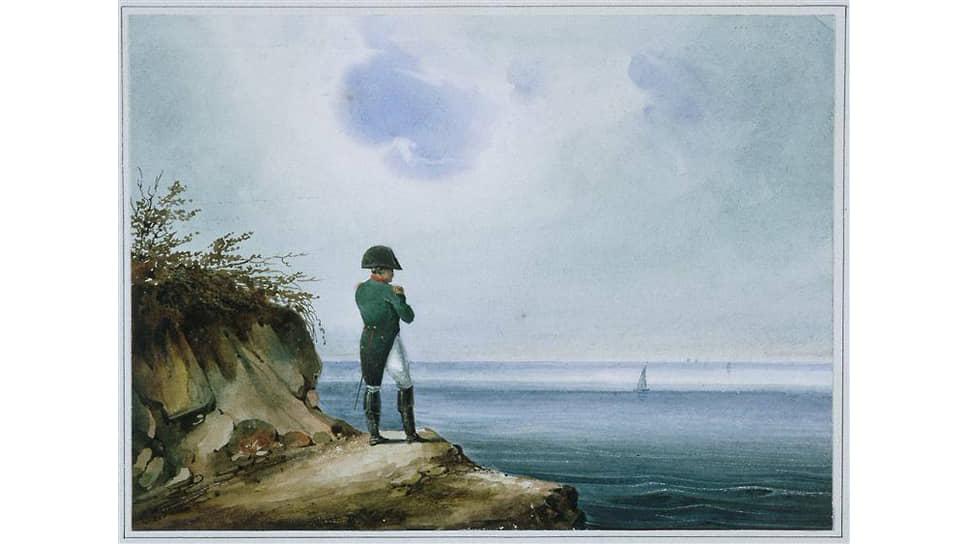 Франсуа-Жозеф Сандман. «Наполеон на острове Св.Елены», 1820