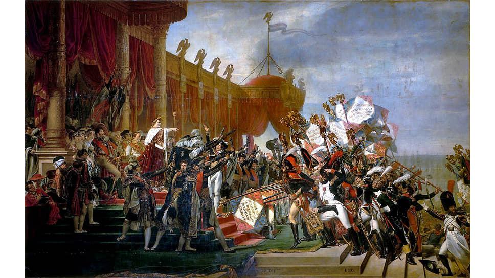 Жак Луи Давид. «Армия дает клятву императору после раздачи орлов на Марсовом Поле, 5декабря 1804года», 1810