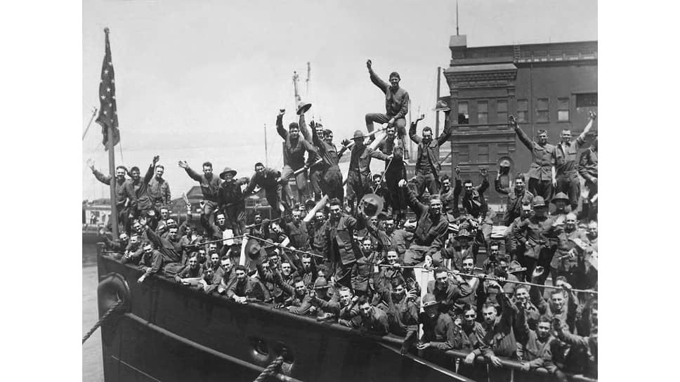 Отплытие американских солдат во Францию, 1917