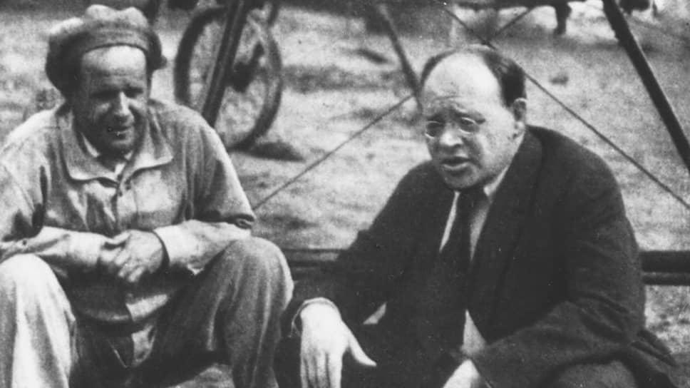 Сергей Эйзенштейн и Исаак Бабель. Ялта, 1936
